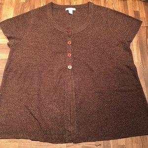 Dress Barn Brown Sweater Short Sleeves 18/20